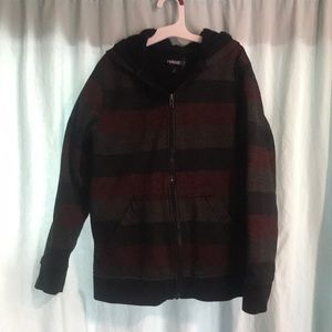 Hawk striped sweater hoodie GUC